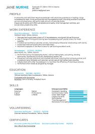 Resume Examples By Real People Head Housekeeper Resume