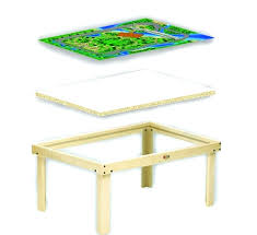 kids train activity table multi activity play table kidkraft city explorer wooden train set play table
