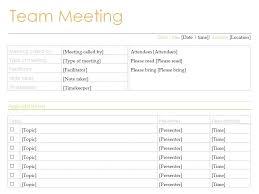 Staff Meeting Agenda Gorgeous Weekly Team Meeting Agenda Template