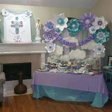 baby shower wall decoration ideas shower wall decorations baby shower decoration baby shower more a lavender baby shower wall decoration ideas