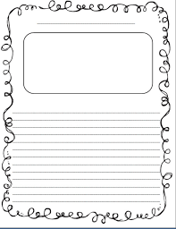 lined story writing paper template inspired elementary sticker story paper bie