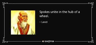 Laozi Quote Spokes Unite In The Hub Of A Wheel Impressive Quotes Hub