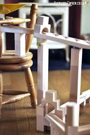 haba ball run a tower of wooden blocks supporting marble run track haba wooden ball run