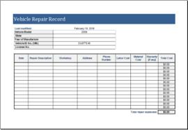 Auto Maintenance Logs 20 Editable Log Spreadsheet Templates For Excel Templateinn
