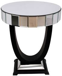 mirrored side table. RV Astley Mirrored Side Table