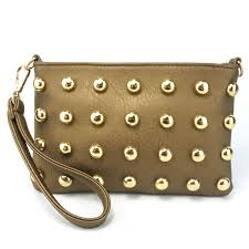 china new fashionable cute rivet leather wristlet women pouch bag china pouch bag leather pouch