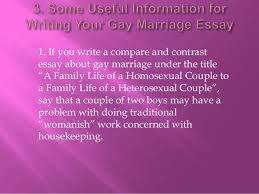 gay marriage essay 7 2 if you write an argumentative essay about gay marriage under the title ""