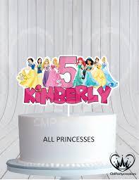 Disney Princess Birthday Cake Topper Cmpartycreations