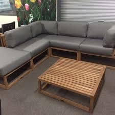 teak modular outdoor setting