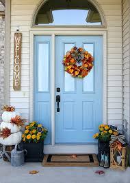 front door hangingsCheery Fall Front Door Decorations  The Home Depot Blog