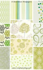 green wallpaper interior design cosy ...