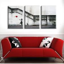 no frame banksy wall art canvas prints 3 pieces wall pictures for living room on banksy wall art prints with no frame banksy wall art canvas prints 3 pieces wall pictures for