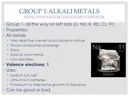 PROPERTIES OF PERIODIC TABLE. GROUP 1:ALKALI METALS HTTPS://WWW ...