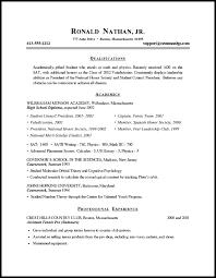 Resume Format Sample For Student Resume Corner