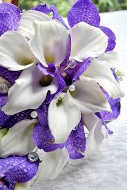 Purple And White Wedding Flowers Laurel Weddings