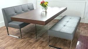 dining room table bench with back creative and set