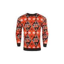 Forever Collectibles Nfl Cincinnati Bengals Candy Cane Ugly Sweater