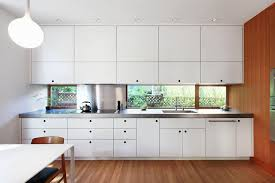 modern white cabinets kitchen. Fine Modern Crisp White Cabinetry In This Kitchen Brightens Up The Wood And Creates A  More Modern Look To Modern White Cabinets Kitchen R