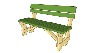 DIY Building Plans For A Picnic Table  Backyard Ideas  Pinterest Plans For Building A Bench