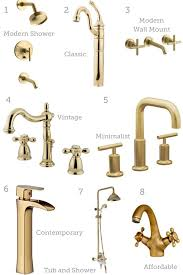ping guide gold bronze and copper plumbing fixtures