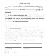 warranty template word sample warranty deed form template 9 free documents in pdf word