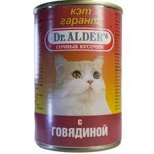 <b>Dr</b>. <b>ALDER</b>`S <b>Кэт Гарант</b> 415 г <b>консервы</b> для кошек сочные ...