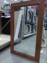 allen roth 36 in l x 30 in w silver leaf beveled wall mirror in the mirrors section of com