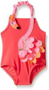 Mud Pie Flamingo Swimsuit Girl Size 3m 5t 1122116 Nwt My