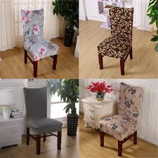 elegant flower pattern chair cover dining wedding banquet decor anti stain chair slipcover