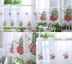 Kitchen voile cafe net curtain panel 25 new designs 12 18 24 q for Latest kitchen  curtain designs .