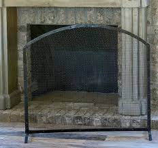 unique metal fireplace screen or 3 panel
