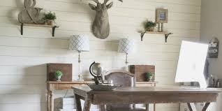 beautiful home office wall. Remodelaholic | How To Install A Shiplap Wall + Rustic Home Office Makeover Beautiful T