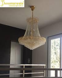 led lights stunning golden decorative crystal chandelier with bright illumination
