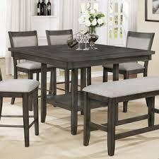 crown mark fulton counter height table with lazy susan