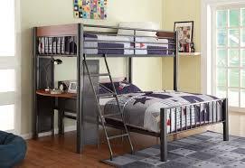 metal bunk bed with desk. Exellent Bunk Gorgeous Metal Loft Bed With Desk Popular Throughout Bunk Designs 8 Inside V