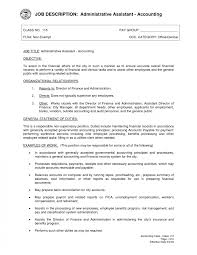 Accounting Job Responsibilities For Resume Accountant Job Description Template Administrative Assistant Resume 16