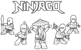 Suprising Coloring Pages Lego Ninjago To Print Picolour