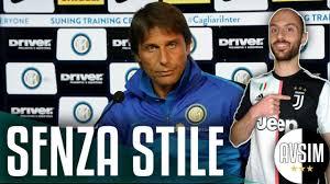 Conte contro Agnelli sulla stella allo Stadium ||| Speciale Avsim pre  Inter-Juventus - YouTube