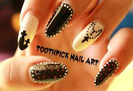 Toothpick Nail Art | 3 Easy Halloween Nail Art Designs using a ...