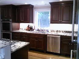 Mahogany Stained Cherry With Delicartus Granite Traditional