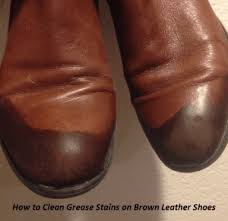 how to remove grease from leather shoes