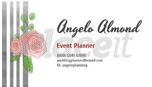 Placeit - Event Planner Business Card Template