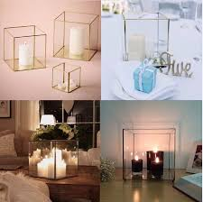 china cube pendant light minimal hanging square terrarium kids storage gift box dodecahedron glass geometric chandelier china candle holder