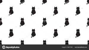 猫のシームレスなパターン黒子猫ベクトル分離の壁紙の背景 ストック