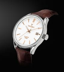 men s dress watch white and rose gold vincero collective kairos dress watch white rose gold