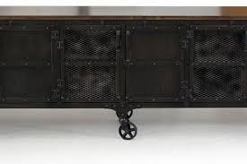 industrial media furniture. Custom Industrial 9 Foot Rolling Media Cabinet / Wood \u0026 Steel Furniture N