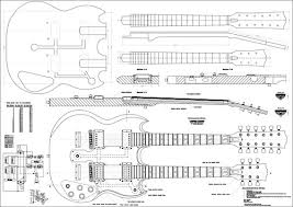 drawing of eds 1275 the eagles drawings body les paul