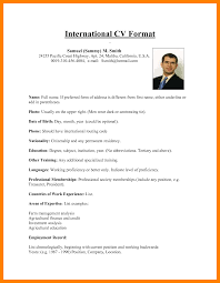 11 international resume template - International Resume Template
