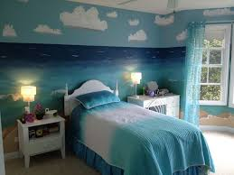 dark blue bedrooms for girls. Creative Contemporary Bedroom Design With Nature Beach Themed Ideas By Sea Pattern Wall Paper Matched A Splendid Blue Dark Bedrooms For Girls P