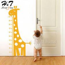 Details About Giraffe Measure Growth Height Chart Vinyl Wall Sticker Decal Nursery Kids Baby